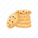 almonds, american snack, cookie, dessert, food, snack icon