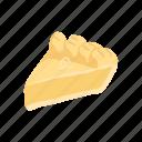 american pie, bread, cake, dessert, food, pie, snack icon