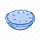 american snack, apple, dessert, food, pie, snack icon