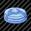 american snack, breakfast, cake, dessert, food, pancake, snack icon