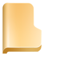 folder, front icon