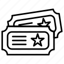 slip, ticket, token icon