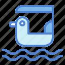 boat, duck, park, pedal, theme, transportation