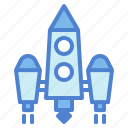 launch, rocket, ship, space, startup icon