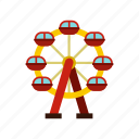 amusement, ferris, fun, motion, park, spin, wheel icon