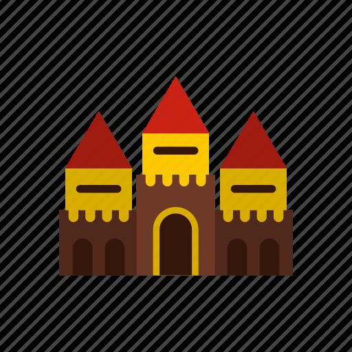 amusement, castle, circus, fantasy, fun, outdoor, park icon