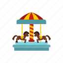 amusement, carnival, carousel, circus, horse, park, round icon