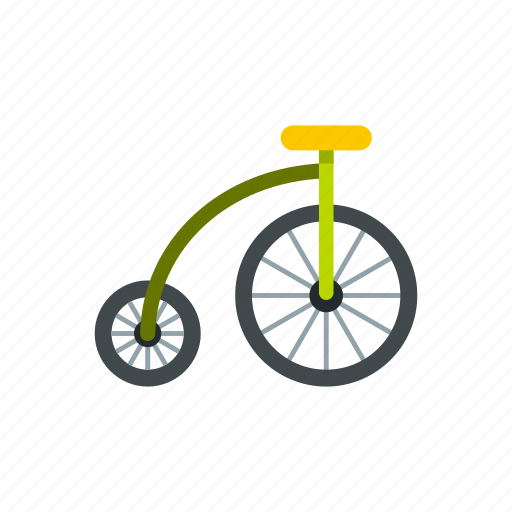 bicycle, bike, circus, highwheel, pedal, ride, vintage icon