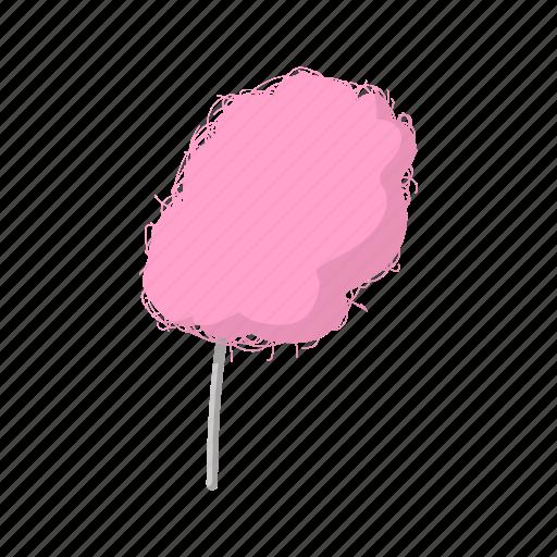candy, cartoon, floss, food, stick, sugar, sweet icon