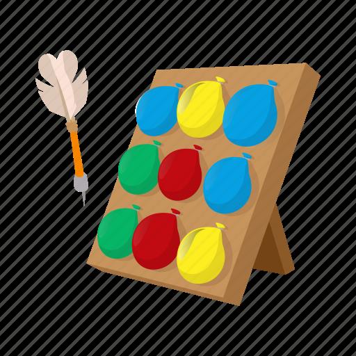 balloon, carnival, cartoon, dart, fun, game, target icon