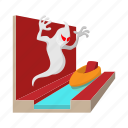 amusement, cartoon, ghost, haunted, house, park, ride icon