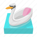amusement, carousel, cartoon, fair, park, ride, swan icon