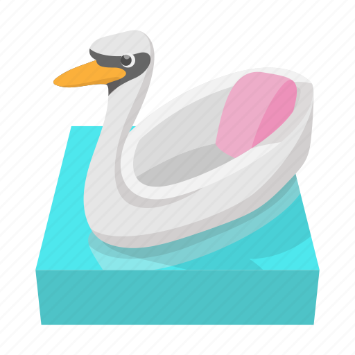 amusement, carousel, cartoon, fair, park, ride, swan icon
