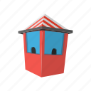 amusement, booth, cartoon, circus, fair, fun, park icon