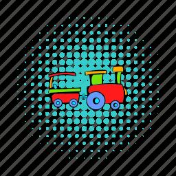 baby, cheerful, children, comics, engine, fun, train icon