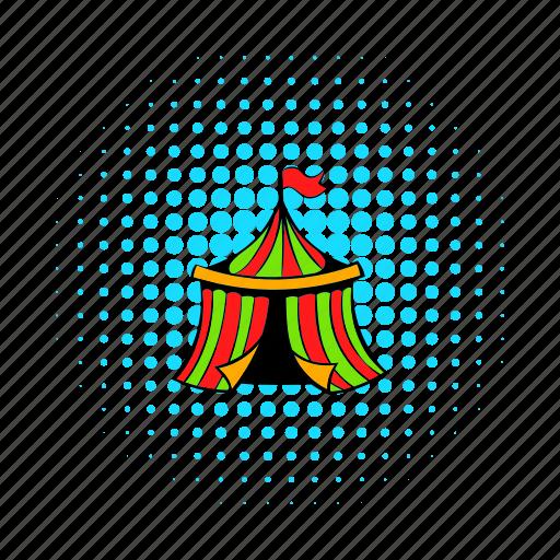 circus, cirque, comics, fair, festive, fun, tent icon