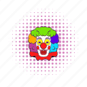 circus, clown, comics, face, fun, happy, smile icon