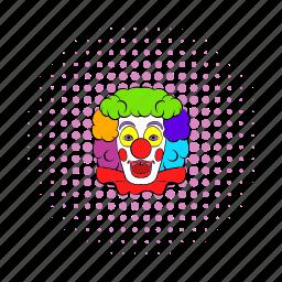 circus, clown, comics, face, fun, happy, smile icon
