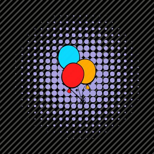 ballon, balloon, bunch, celebration, comics, decoration, holiday icon