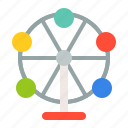 amusment, entertainment, ferris wheel, park, rides, theme park icon