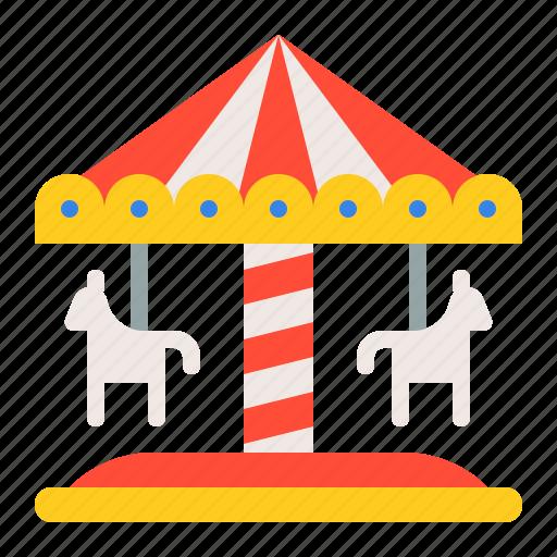 amusment, carousel, entertainment, merry go round, park, rides, theme park icon