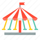 amusment, entertainment, park, rides, swing ride, theme park icon