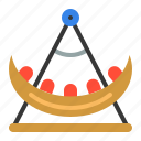 amusment, entertainment, park, rides, swing boat, theme park icon