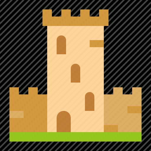 amusment, architecture, castle, park icon