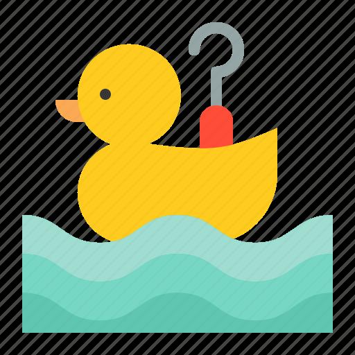 amusment, entertainment, hook a duck, park, theme park icon