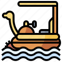 boat, entertainment, pedal, transportation, water icon
