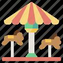 carousel, fair, childhood, amusement, fun, park icon