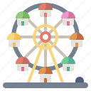 amusement, childhood, fair, ferris, fun, park, wheel icon