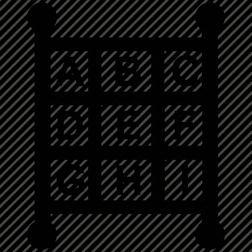 abacus, alphabets, ciphers, consonants, letters, vowels icon