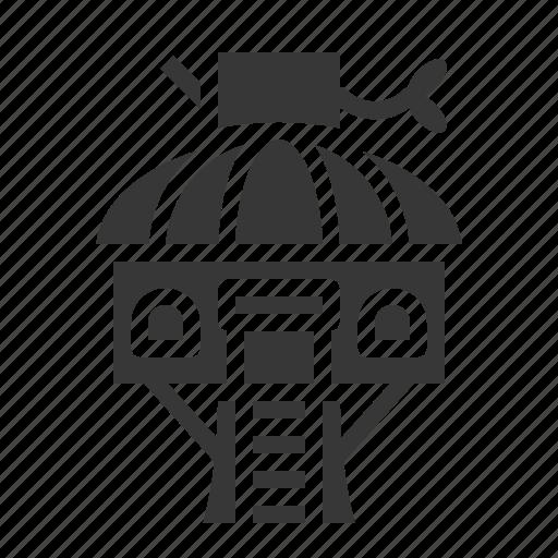 amusment, house, park, theme park, tree house icon
