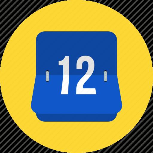 analog, calendar, color, deadline, number, square, time icon