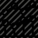 analytic, data, line graph, statistics icon