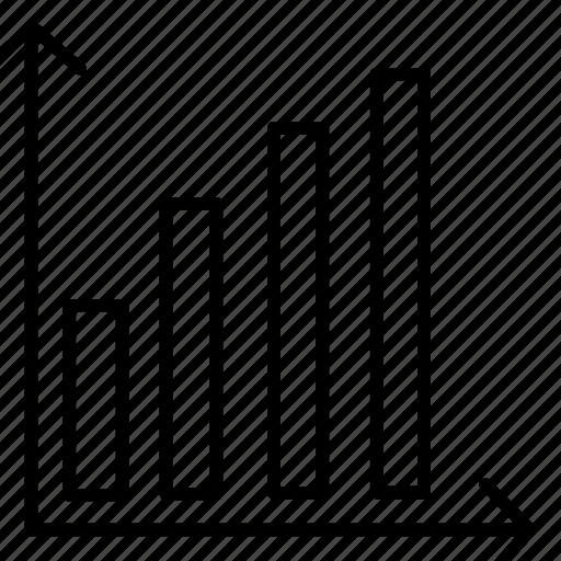 analytics, bar, bar chart, chart, ecommerce icon
