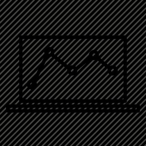 analytics, chart, ecommerce, laptop icon
