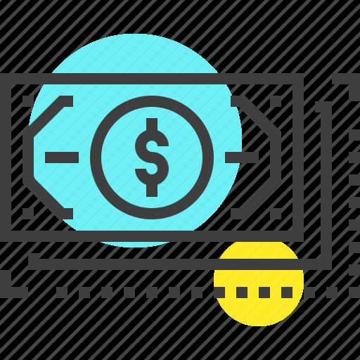 bill, cash, currency, dollar, exchange, flow, money icon