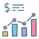 analytics, chart, financial, growth, market, money, profit icon