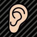 ear, hear, listen, body, organ