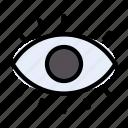 eye, view, medical, anatomy, see