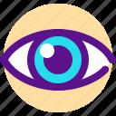 eye, health, medicine, organ icon