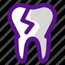 broke, health, medicine, organ, tooth icon