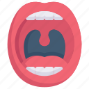 anatomy, biology, lips, mouth, organ, surgery, tongue icon