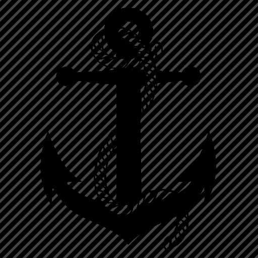 anchor, boat, marine, ocean, sea, ship icon