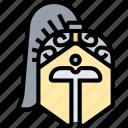 helmet, spartan, head, protection, armor
