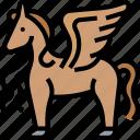 pegasus, unicorn, mythology, animal, horse