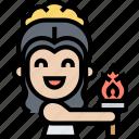 torch, flame, fire, goddess, greek