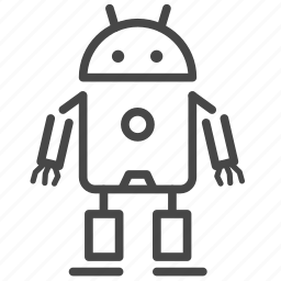 ai, android, artificial intelligence, cyborg, humanoid, robot, robotics icon